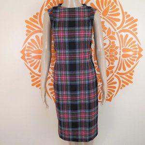 Pendleton Sleeveless Plaid Pencil Dress 6